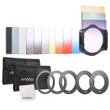 Sale Andoer 13Pcs Square Gradient Full Color Filter Bundle Kit For Cokin P Series With Filter Holder Adapter Ring 52Mm 58Mm 62Mm 67Mm 72Mm Storage Bag Cleaning Cloth Intl Andoer Original