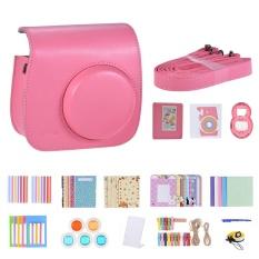 Andoer 14 In 1 Instant Camera Accessories Bundle Kit For Fujifilm Instax Mini 9/8+/8 Include Case/strap/sticker/selfie Lens/5 Filter/album/4 Kinds Film Frame/40 Corner Sticker/corner Sticker/pen, Flamingo Pink - Intl.