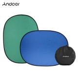 Price Comparisons Of Andoer 1 5 2 0M Collapsible Nylon Blue Green 2In1 Backdrop Background Panel For Photo Video Studio Photography Intl