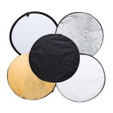 Deals For Andoer 43 110Cm Disc 5 In 1 Gold Silver White Black Translucent Multi Portable Collapsible Photography Studio Photo Light Reflector Intl