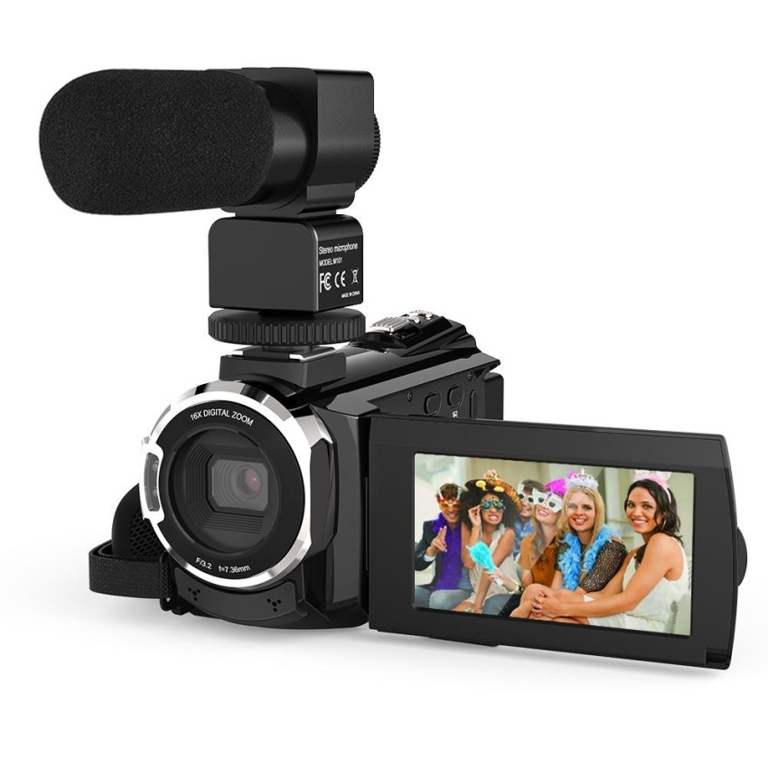 Andoer 4K 1080P 48Mp Wifi Digital Video Camera Camcorder Recorder With External Microphone Novatek 96660 Chip 3Inch Capacitive Touchscreen Ir Infrared Night Sight 16X Digital Zoom Intl On China