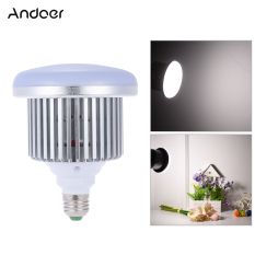 Best Rated Andoer 50W 5500K 72 Beads E27 Socket Photo Video Studio Continuous Daylight Fill In Softbox Photography Led Lamp Light Bulb For Dslr Camera Smartphone Shooting Intl