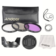 Andoer 55mm Filter Kit (uv+cpl+fld) + Nylon Carry Pouch + Lens Cap + Lens Cap Holder + Lens Hood + Lens Cleaning Cloth - Intl By Haitao.