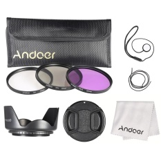 Andoer 67mm Filter Kit (uv+cpl+fld) + Nylon Carry Pouch + Lens Cap + Lens Cap Holder + Lens Hood + Lens Cleaning Cloth - Intl By Haitao.