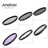 Best Offer Andoer 67Mm Uv Cpl Fld Nd Nd2 Nd4 Nd8 Photography Filter Kit Set Ultraviolet Circular Polarizing Fluorescent Neutral Density Filter For Nikon Canon Sony Pentax Dslrs Export