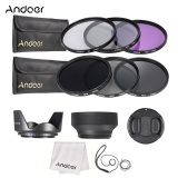 Buy Andoer 77Mm Lens Filter Kit Uv Cpl Fld Nd Nd2 Nd4 Nd8 With Carry Pouch Lens Cap Lens Cap Holder Tulip Rubber Lens Hoods Cleaning Cloth Intl Cheap On China
