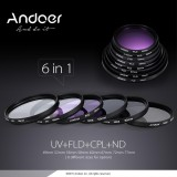 Sale Andoer 77Mm Lens Filter Kit Uv Cpl Fld Nd Nd2 Nd4 Nd8 With Carry Pouch Lens Cap Lens Cap Holder Tulip Rubber Lens Hoods Cleaning Cloth Intl Andoer