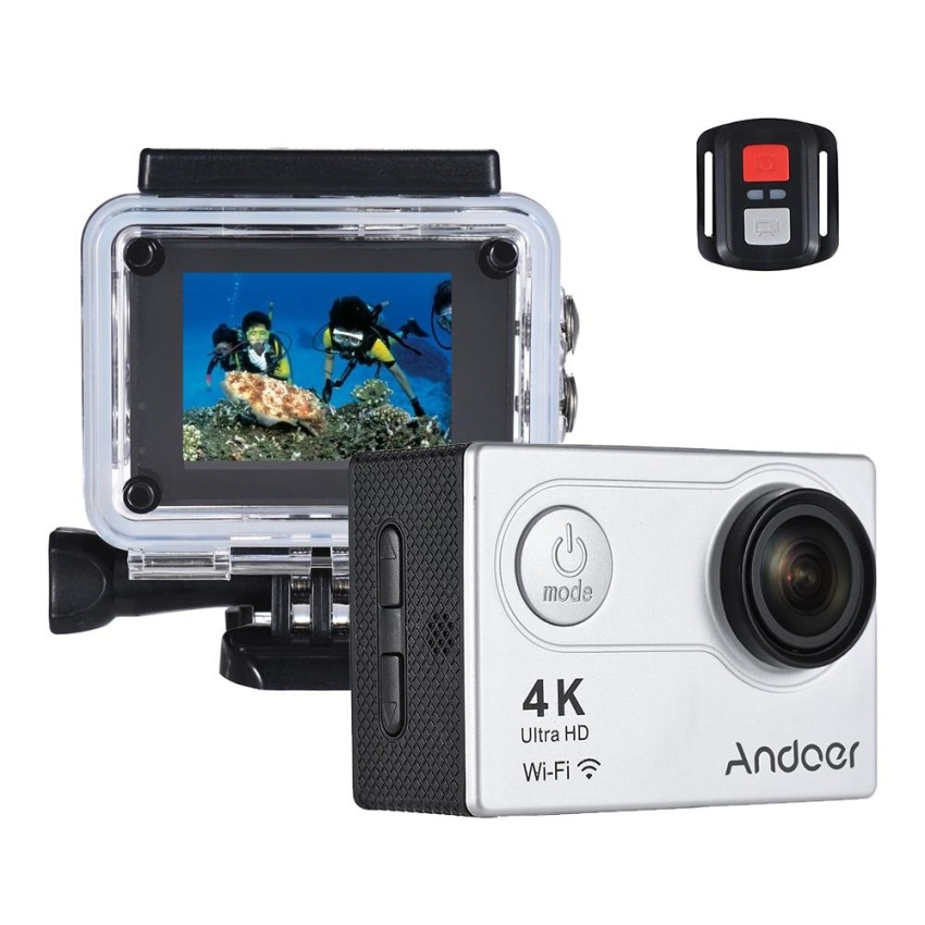 Buy Andoer An6000 4K 16Mp Wifi Action Sports Camera 1080P Ultra Hd With Remote Control 2 Lcd 170� Wide Angle Lens Support 4X Zoom Diving 40M Slow Motion Drama Photo Intl Cheap On Hong Kong Sar China