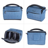 Buy Andoer Cuboid Shaped Dslr Camera Shoulder Bag Portable Fashion Polyester Camera Case For 1 Camera 2 Lenses And Small Accessories For Canon Nikon Sony Fujifilm Olympus Panasonic Intl Not Specified