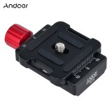 Purchase Andoer Dc 34 Quick Release Plate Clamp Adapter With One Quick Release Plate 1 4 Scr*w For Arca Swiss As Standard Qr Tripod Head Intl Online