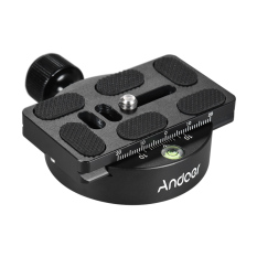 Coupon Andoer Kz 40 Universal Aluminum Alloy Tripod Head Disc Clamp Adapter W Pu 70 Quick Release Plate Compatible For Arca Swiss Outdoorfree Intl