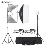 Andoer Led Photography Studio Lighting Light Kit With 2 30W Led Lamp 2 Softbox 2 Light Stand 1 Carrying Bag Intl On Hong Kong Sar China