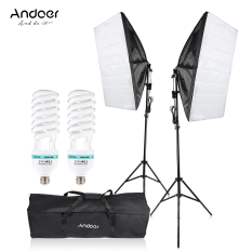 Andoer Photography Studio Cube Umbrella Softbox Light Lighting Tent Kit Photo Video Equipment 2 135W Bulb 2 Tripod Stand 2 Softbox 1 Carrying Bag For Portrait Product Outdoorfree For Sale Online