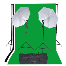 Retail Andoer Photography Studio Portrait Product Light Lighting Tent Kit Photo Video Equipment 2 135W Bulb 2 Bulb Holder 2 Reflective Shooting Through Umbrella 3 Backdrops 1 Backdrop Stand 2 Tripod Stands 1 Carrying Bag Intl