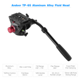 Discount Andoer Tp 65 Aluminum Alloy Fluid Drag Head Hydraulic Head Three Dimensional Tripod Head 360 Panoramic Shooting For Photography And Video Recording Max Load Capacity 15Kg Outdoorfree Andoer