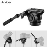 Retail Price Andoer Vh05 Camera Camcorder Tripod Head Fluid Drag Pan Tilt Head With Quick Release Plate Aluminum Alloy Support 5Kg 11Lbs For Canon Nikon Sony A7 Panoramic Photo Video Intl