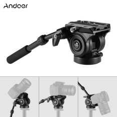 Price Comparison For Andoer Vh05 Camera Camcorder Tripod Head Fluid Drag Pan Tilt Head With Quick Release Plate Aluminum Alloy Support 5Kg 11Lbs For Canon Nikon Sony A7 Panoramic Photo Video Intl