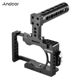 Best Price Andoer Video Camera Cage Top Handle Kit Aluminum Alloy For Sony A6500 Ildc To Mount Microphone Monitor Tripod Lighting Accessories Film Making Intl