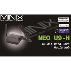 Best Rated Android Minix Neo U9 H Newest 4K Tv Media Box A3 Air Mouse Iptv 1 Year