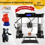 Price Comparisons Of Anet A8 M 3D Printer Kit Big Printed Size Diy Delta Lcd Pla Filament 8Gb Sd Card Intl