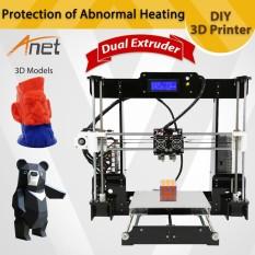 Best Reviews Of Anet A8 M 3D Printer Kit Big Printed Size Diy Delta Lcd Pla Filament 8Gb Sd Card Intl