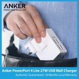Best Anker Powerport 4 Lite 27W Usb Wall Charger New Arrival
