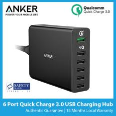 Buy Anker Powerport 6 6 Port Quick Charge 3 Usb Charger Sg Plug Best Seller Anker Original