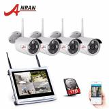 Anran 4Ch Cctv System Wireless 12 Inch Nvr Security Camera System 4Pcs 1 3Mp Ir Outdoor P2P Wifi Ip Camera Surveillance Kit On China