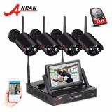 Anran 4Ch Wifi Camera System Hd 7 Lcd Monitor Nvr Kit With 960P Outdoor Waterproof Security Ip Camera Video Surveillance System Shop