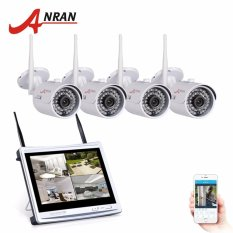 Sale Anran 4Ch Wifi Cctv System 12 Lcd Nvr Kit P2P 720P Hd Ir Night Vision Ip Camera Outdoor Security Camera Intl Online China