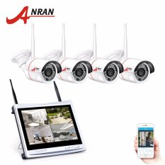 Deals For Anran 4Ch Wireless Cctv System 12 Lcd Wifi Nvr 720P Hd H 264 Outdoor Ir Night Vision Security Camera System Intl
