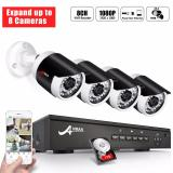 Buy Anran 8 Channel 1080P Poe Security Camera System With 4 Outdoor Indoor 2 Megapixel Hd Cctv Surveillance Ip Cameras Qr Code Easy Setup Free Remote View With Installed 1Tb Hard Drive Expandable Anran Original