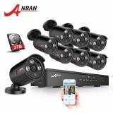 Discount Anran 8Ch 1080P Hd Poe Video Surveillance System Outdoor Indoor Waterproof Security Cctv Poe Camera Kit Anran