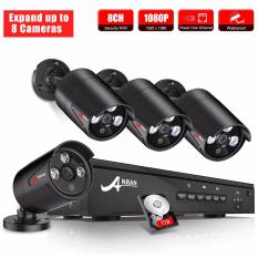 Anran 8Ch 1080P Secuirity Poe Camera System With 4 1080P 2 Megapixel Poe Ip In Outdoor Cameras With 1Tb Hdd Price