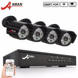Anran Ar K04P2 408Gb 4Ch 1080P Poe Nvr Security System With 4 1080P Night Vision Weatherproof Network Ip Video Surveillance Camera For Sale