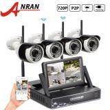 Get The Best Price For Anran Plug And Play 4Ch Cctv System Wireless 7 Inch Lcd Screen Nvr P2P 720P Hd Ir Outdoor Bullet Wifi Ip Camera Surveillance Kit Intl