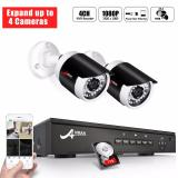 Price Anran Poe Video Security Camera System 4Ch 1080P Poe Nvr Recorder With 2 Surveillance Cameras 1Tb Hard Drive Expand Up To 4 Cameras Plug Play Night Vision Motion Detection Anran China