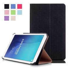 Sale Aoobcc Samsung Galaxy Tab E 9 6 Case Slim Folding Cover For Samsung Galaxy Tab E Tab E Nook 9 6 Inch Tablet Fit Both Wifi And Verizon 4G Lte Version Black Intl China