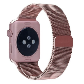 Top Rated For Apple Watch Band 38Mm Rose Gold Milanese Loop Stainless Steel Bracelet Strap Magnetic Closure Clasp Replacement Wrist Band For Iwatch Series 1 Series 2 Sport Edition Be The First To Review This Product Intl