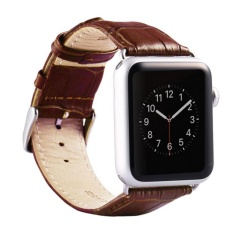 Apple Watch Band Iwatch Bands 38Mm Genuine Leather Strap Iphone Smart Watch Band Bracelet Replacement Wristband With Stainless Steel Adapter Metal Clasp For Apple Watch 2 1 Intl Lowest Price
