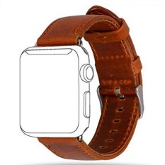 Apple Watch Band Series 1 Series 2 Premium Vintage Genuine Leather Wrist Strap Replacment With Classic Stainless Steel Buckle Clasp Crazy Horse Style For Iwatch 42Mm Intl On China