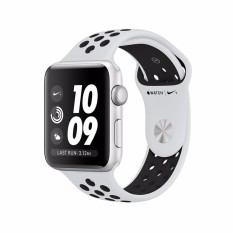 Purchase Apple Watch Nike Gps 38Mm Silver Aluminium Case With Pure Platinum Black Nike Sport Band Online