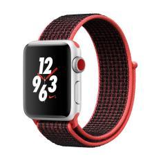 Apple Watch Nike Gps Cellular 38Mm Silver Aluminium Case With Bright Crimson Black Nike Sport Loop Cheap