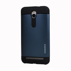 Areme Hybird Dual Layer Tpu Pc Shockproof Slim Fit Case Armor Shock Absorption Combo Back Cover For Asus Zenfone 2 5 5 Inch Ze550Ml Ze551Ml Navy Export For Sale Online