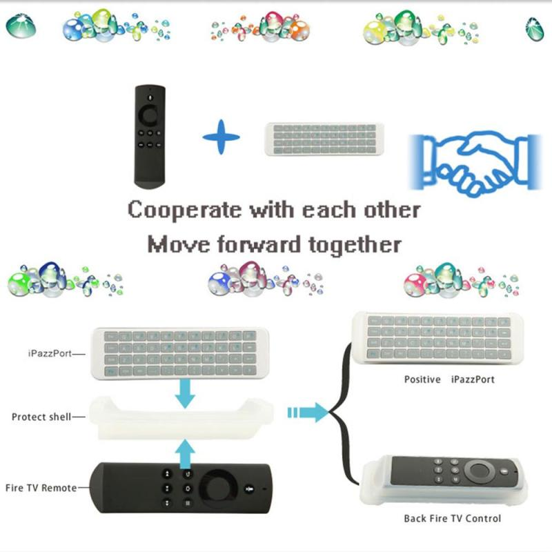 Ari Mouse 2.4G Wireless Keyboard Motion Sensing Game Remote With Silicone Cover - intl Singapore