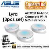Price Lyra Map Ac2200 3Pcs Set Mesh Network Ac2200 Tri Band Whole Home Mesh Wifi System For Large Homes With Aiprotection Network Security Powered By Trend Micro Asus Lyra App And Advanced Parental Control Asus