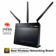 Discount Ac1900 Dual Band Gigabit Wifi Router With Mu Mimo Aiprotection Network Security Powered By Trend Micro Adaptive Qos And Parental Control Asus On Singapore