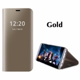 Low Cost Asuwish Smart Chip Ic Phone Case For Samsung Galaxy Note 8 Luxury Clear View Built In Stand Mirror Hard Flip Cover Intl