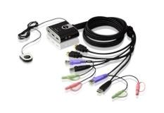 Aten CS692  2-port USB2.0 HDMI Cable KVM.  Cable length: 1.2m. Audio enabled