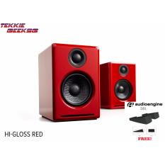 Buy Audioengine A2 2 75 Powered Desktop Speakers Glossy Red Pair Cheap On Singapore